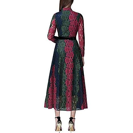 iShine Vestidos para Mujer Vintage Elegantes con Manga 3/4 de Noche Fiesta para Bodas: Amazon.es: Ropa y accesorios