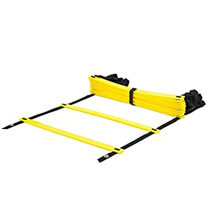 Arespark Agility Ladder, 12 Rung Durable Training Ladders for Soccer, Speed, Football with Carry Bag Promote