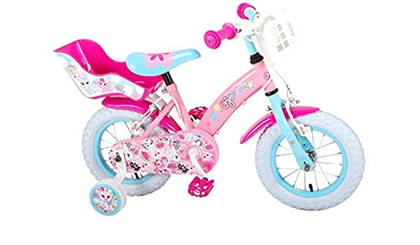 Bicicleta Infantil Niña Chica 12 Pulgadas Ojo Frenos al Manillar ...