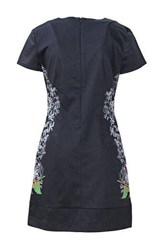 Robe En Coton Noir 18wwvw69black Féminin Desigual