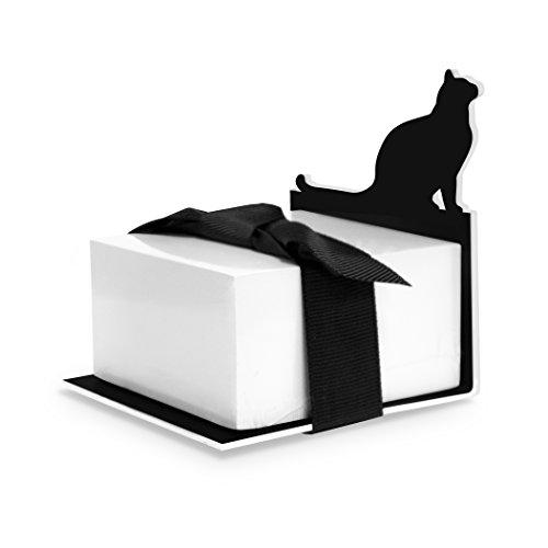 Wellspring Sticky Note Holder - Cat, Black (Black Cat Note)