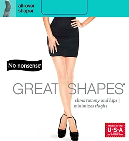 062b2aa5c94 No Nonsense Women s Shapes All Over Shaper Pantyhose with Sheer Toe at  Amazon Women s Clothing store