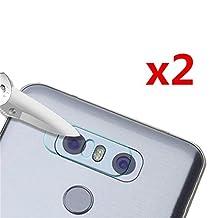 Interesting® 2PCS 7.5H Transparent Back Camera Lens Tempered Glass Protective Protector Film For LG G6