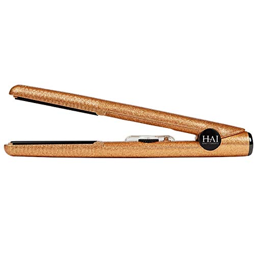SUPERSTAR by HAI - Hollywood Collection - 1 inch Ceramic Flat Iron - Dual Voltage Hair Straightener