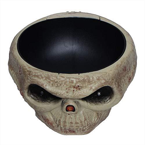 Transer Fruit Bowl, Halloween Decorations Nut Bowls Dish Basket with Jumping Skull Hand Halloween Decor Supplie (Beige) by Transer- (Image #3)