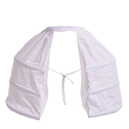 Blessume Victorian Dress Double Pannier Petticoat, White, One size ()