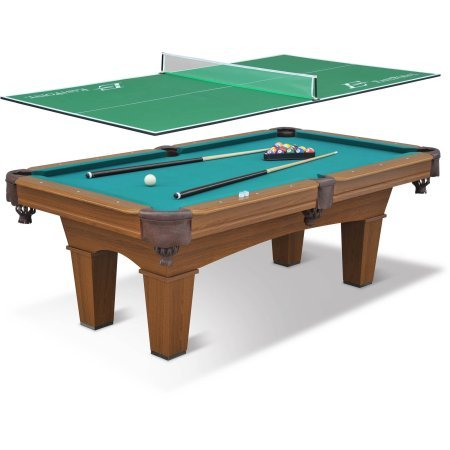 "EastPoint Sports 87"" Sinclair Billiard Pool Table with 3-Piece Table Tennis Top"