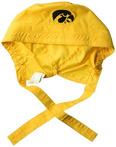 WonderWink Men's University of Iowa Scrub Cap, Gold, 1SZ