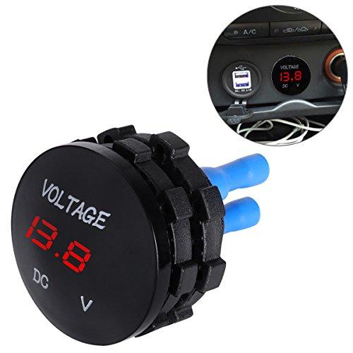 WINOMO Digital Voltmeter Display Universal Voltage Meter for DC 12V-24V Car Motorcycle Auto