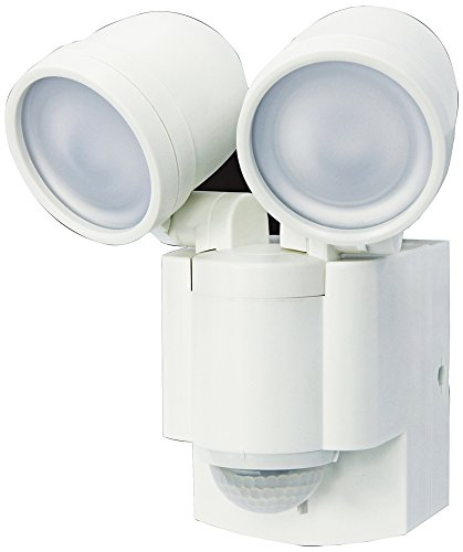 Battery Operated Motion Sensor Twin LED Light (140° Motion Sensor) (White) Review