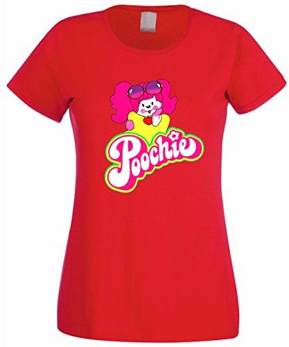 T-shirt donna - Poochie cagnolina giornalino anni 80 - by L'Arcobaleno di Luci Rosso