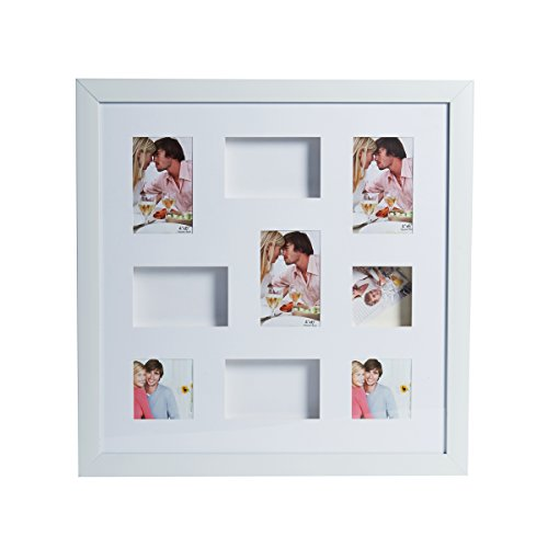 Mikasa 9-Opening Shadowbox Collage, 22-Inch, White by Mikasa