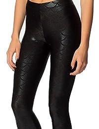 Alaroo Shiny Fish Scale Mermaid Leggings for Women Pants S-3XL
