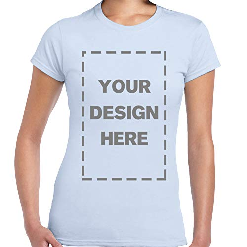 Baranovo Woman Custom Add Your Own Design Photo Text Name Here Cotton T Shirts Sky Blue S
