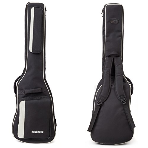 Bass Guitar Gig Bag by Hola! Music, Deluxe Series with 15mm Padding, (Deluxe Bass Bag)