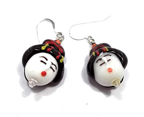 Geisha Face Lampwork Dangle ()