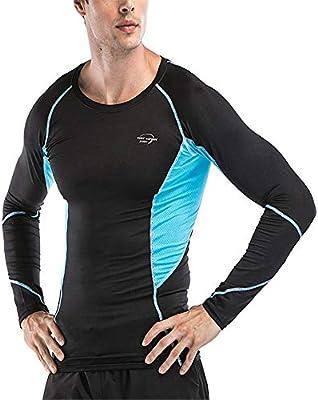 Camisetas de Fitness Compresión Ropa Gimnasio de compresión para hombres Sudadera deportiva de manga larga Camiseta deportiva Camisa de compresión para hombre Traje de entrenamiento deportivo Camisa d: Amazon.es: Hogar