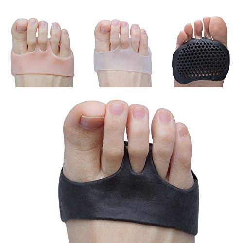 Sumifun Forefoot Cushioning, Gel Metatarsal Pads, Ball of Foot Cushion Prevent Mortons Neuroma Callus and Blisters for Men and Women