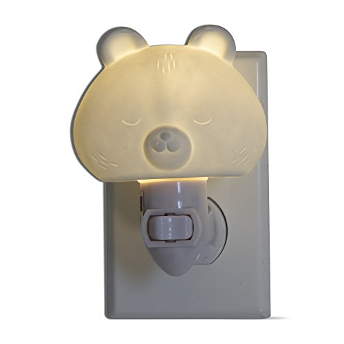 tag - Bear LED Plug-In Night Light, A Perfect Addition to Any Child's Room or Nursery, White (3.98