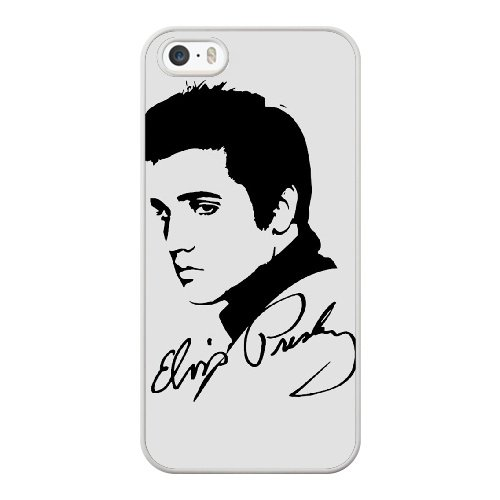 Coque,Coque iphone 5 5S SE Case Coque, Elvis Silhouette Sign Cover For Coque iphone 5 5S SE Cell Phone Case Cover blanc