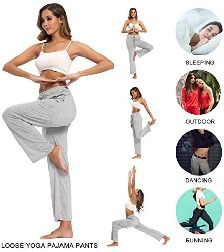 fitglam Women's Lounge Pants, Loose High Waist Yoga Pants, Drawstring Pajama Bottoms with Pockets 6
