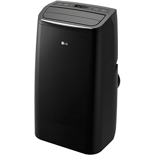 LG Cooling Rooms up to 400-sq. ft. with Remote Control Portable Air Conditioner, Black