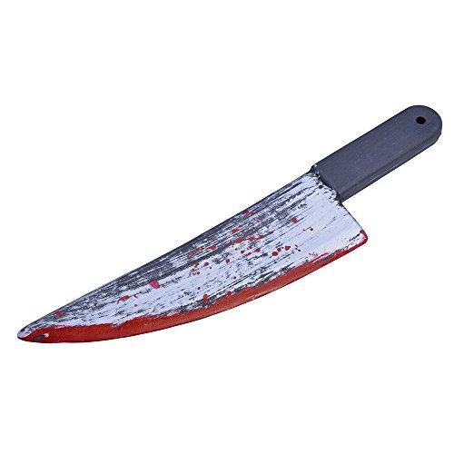 Bristol Novelty BA490 Blood Splattered Knife, Red, One Size