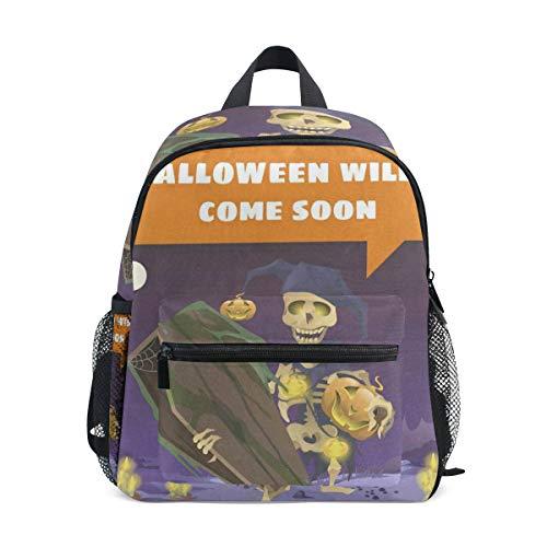 Halloween Cartoon School Backpack for Girls Kids Elementary School Bag Mini Backpacks