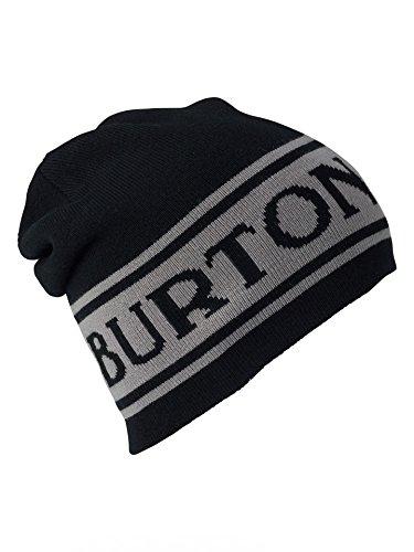 Burton Unisex Billboard Beanie, True Black/Iron Gray, One Size (Beanie Mens Burton)