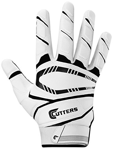 Cutters Game Day Padded Football Glove, Grip All- Purpose Player Football Glove, Youth & Adult Sizes, 1 Pair