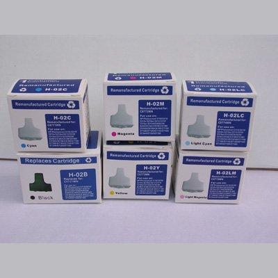 6-Pack Remanufactured Ink Cartridges for HP 02 Photosmart D7360 D7460 8250 D7260 D7160 C5180 C6180 C6280 C7180 C7280 C8180, Office Central