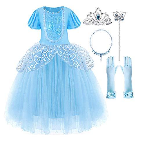 Suyye Girls Cinderella Costume Princess Party Dress