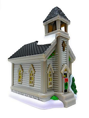 Cobblestone Corners 2019 Christmas Village Collection - Miniature Building 5 x 2.5 x 3.5 in. (Church)