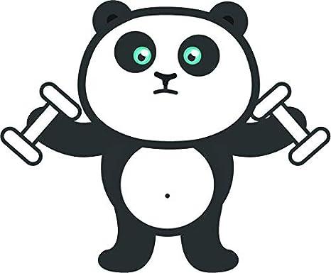 Amazoncom Cute Simple Kawaii Blue Eye Panda Bear Cartoon Emoji