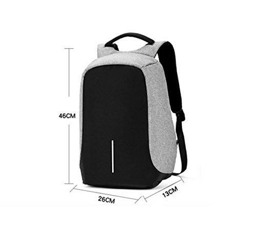 Schulterbeutel Der Männer Schulranzen Jugend Anti-Diebstahl-Computer Tasche Urlaubsreisen Business-Taschen black