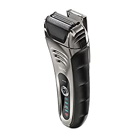 Wahl Speed Shave Rechargeable Lithium Ion Wet/Dry Waterproof Facial Hair Shaver with Speedflex Precision Foils #7069 - 41m4TOEqXtL - Wahl Speed Shave Rechargeable Lithium Ion Wet/Dry Waterproof Facial Hair Shaver with Speedflex Precision Foils #7069-100