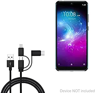 Type-C Universal Interface Shield Academy USB Cable High Speed Data and Charging Android Three-in-One Data Cable Suitable for All Kinds of Mobile Phones and Tablets Such As Apple