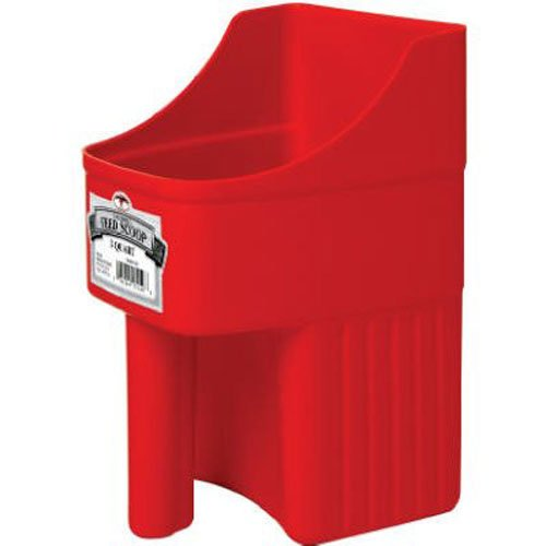 Enclosed Feed Scoop, Red (3 Quart Feed Scoop)