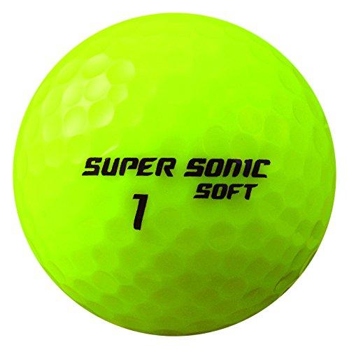 카스코(Kasco) 골프 SUPER SONIC SOFT 일본제(MADE IN JAPAN) 2피스 10개세트 들이 옐로/오렌지/화이트