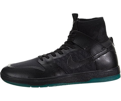 Nike SB Zoom Dunk HIGH Elite Mens Fashion-Sneakers 917567-003_7.5 - Black/Black-DK Atomic Teal