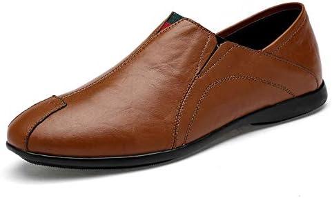 You Are Fashion 運転夏本革ローファー用男性靴モカシン快適なスリップオンオフィスビジネスドレスフォーマル男性の靴軽量 (Color : 淡い茶色, サイズ : 25.5 CM)