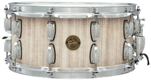 Gretsch Drums Gold Series S1-6514SSBBWH 14-Inch Snare Drum, Weathered White Stave Snare Drum Shell