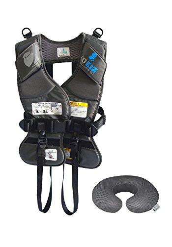 GOKIZ Car Seat Vest, Charcoal, Small by GOKIZ (Image #4)