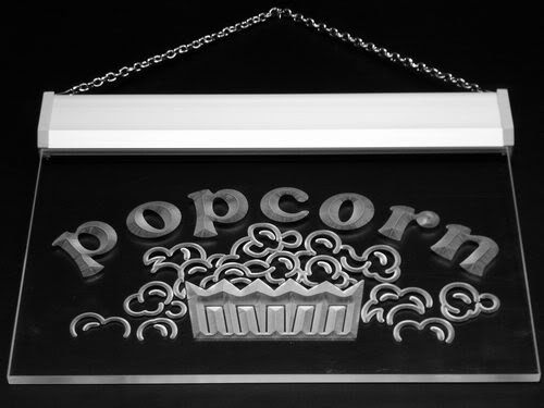 Multi Color i135-c Popcorn Shop Snack Cafe Lure Neon LED Sign with Remote Control, 20 Colors, 19 Dynamic Modes, Speed & Brightness Adjustable, Demo Mode, Auto Save Function