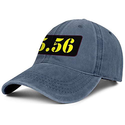 - Black Yellow 556 Ammo Logo Men Women Cowboy Caps Classic Trend Baseball Jeans Hat Funky Fishing Caps for Men Travel Cap