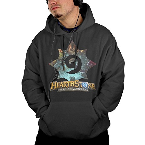 Gilles Men Adult Hearthstone Heroes of Warcraft Hoodies Hoodie with Pocket Hoodie Black