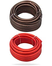(8 Gauge (7.6m), Red + Black) - InstallGear 8 Gauge 7.6m Black and 7.6m Red Power/Ground Wire True Spec and Soft Touch Cable