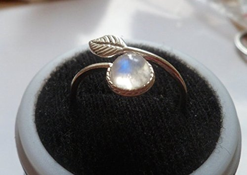 good Exquisite 925 Sterling Silver Ring White Moonstone Sun
