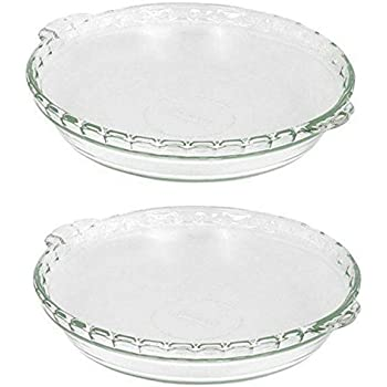 2 X Pyrex Bakeware 9-1/2-Inch Scalloped Pie Plate Clear  sc 1 st  Amazon.com & Amazon.com: Pyrex Easy Grab 9.5\