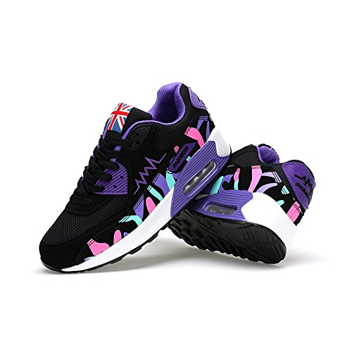 Running Sneakers Sport Baskets Lacet Violet Chaussures Fitness Ochenta Multicolore Respirante Style Air Course Femme Gym wPXBcqzp